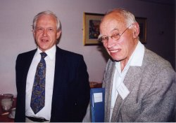 Christopher Cawte (left) and Norman Peacock, 2002