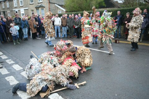 The bodies pile at Marshfield, Gloucestershire, England on Boxing Day 2007